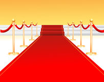 Red carpet entrance. A vector illustration of a red carpet entrance Stock Images