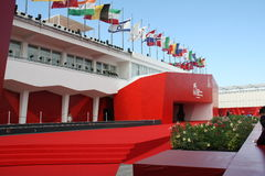 Red carpet. The red carpet of the 66th Venice International Film Festival standing in the Casino Square of Lido Stock Images