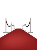Red carpet. Vector illustration of Red carpet on white background Royalty Free Stock Photos