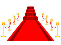 Red carpet. On white background Royalty Free Stock Images