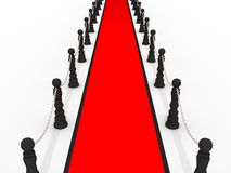 Red carpet. Path isolated on white Royalty Free Stock Photo