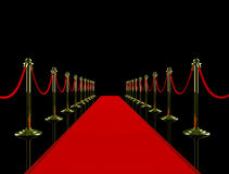 Red carpet. Stock Photo