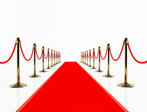 Red carpet. Royalty Free Stock Photos