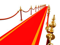 Red carpet. 3d render of red carpet Stock Image