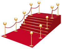 Red carpet. Vip access red carpet isolated Royalty Free Stock Images