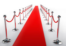 Red carpet. On white background stock illustration
