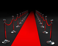 Red carpet. With fence illustration stock illustration