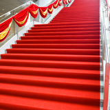 Red carpet. And marble staircase Royalty Free Stock Photography