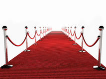 Red Carpet. Over white Background Royalty Free Stock Images