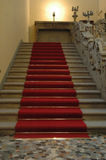 Red carpet. As a road to the celebrity with a light on top Royalty Free Stock Photography
