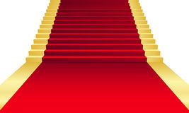 Red Carpet. Vector illustration of red Carpet Royalty Free Stock Photos