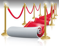Red Carpet. Vector illustration of a Show Business Red carpet and metal posts Royalty Free Stock Photos