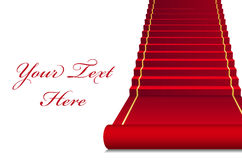 Red Carpet. Vector background with red Carpet Stock Image