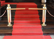 Red carpet. Royalty Free Stock Photo