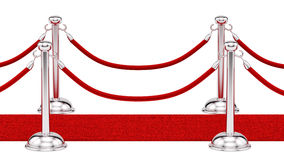 Red carpet. Render of silver stanchions and a red carpet Stock Photo