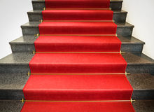Red carpet. At a museum in munich - nice background Royalty Free Stock Photography