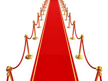 Red carpet. 3d illustration of red carpet, top view Royalty Free Stock Photo