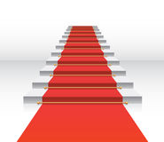 Red carpet. White staircase vector Stock Images