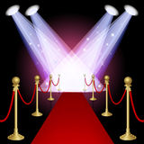 Red carpet. With spotlight.Mesh.This file contains transparency.EPS10 royalty free illustration