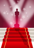 Red carpet. Funny illustration of red carpet Royalty Free Stock Image