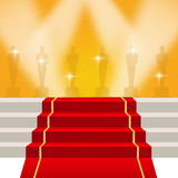 Red carpet. Illustration of the red carpet and Oscar awards Royalty Free Stock Images