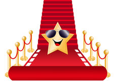 Red carpet. Illustration of Red carpet for Oscar nomination Stock Images