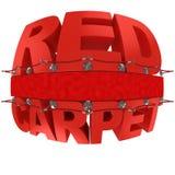Red carpet 3d illustration Stock Photos