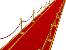 Red carpet. 3D image. Royalty Free Stock Image