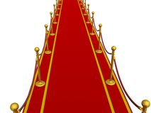 Red carpet. 3D image. Royalty Free Stock Photography