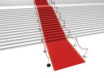 Red carpet Stock Photography