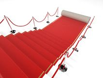 Red carpet. 3d rendered illustration of stairs with a red carpet Royalty Free Stock Photos