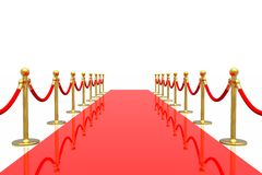 Red carpet. Isolated in white background Royalty Free Stock Photo