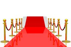 Red carpet. Isolated in white background Stock Image