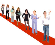 On the red carpet Royalty Free Stock Photos