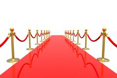 Red carpet. On white background Stock Photos