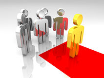 Red carpet. A group of pictograms in a red carpet concept Royalty Free Stock Image