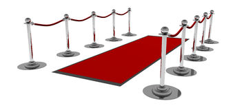 The Red Carpet. Red Carpet, another XXL 3D rendering with HDRI lightning Stock Photo