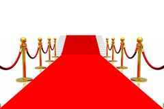 Red carpet. Isolated in white background Royalty Free Stock Image