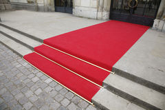 Red carpet. In front af the The Danish Royal Theatre in Copenhagen Royalty Free Stock Photos