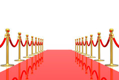Red carpet. Isolated in white background Royalty Free Stock Images