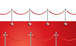 Red carpet. Entrance vector illustration isolated on white Stock Photo