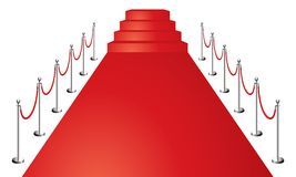 Red carpet. Entrance vector illustration isolated on white Royalty Free Stock Image