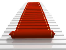 Red carpet. Conceptual 3d image - red carpet Royalty Free Stock Photography