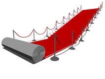 Red carpet. Vector illustration of a red carpet Royalty Free Stock Photography