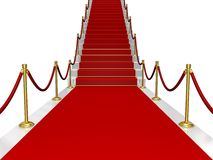 Red carpet. Rendered red carpet