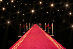 Red Carpet And Flash Stock Photo