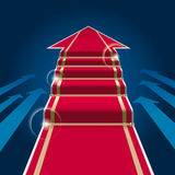 Red Carpet Arrow. Go Forward Idea. Vector Illustration Stock Photos