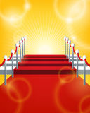 Red Carpet Background. An illustration of a red carpet background for celebrating events Royalty Free Stock Image