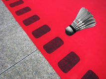 Red carpet badminton Royalty Free Stock Photo