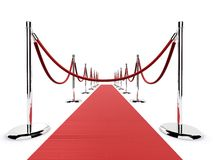 Red carpet barrier Stock Photos